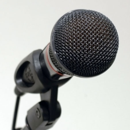 Image of a microphone.