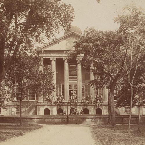 Photo of Randolph Hall and the cistern yard at College of Charleston.