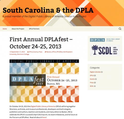 SC-DPLA Website