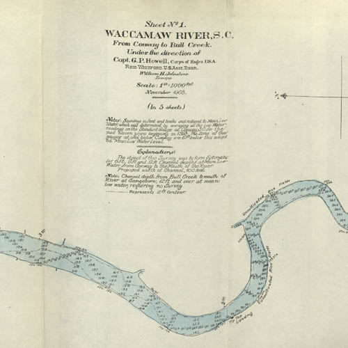 U.S. Engineer Maps of the Waccamaw River, 1903