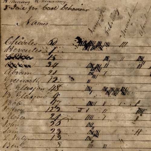 Roslin Plantation Journal, 1807-1814