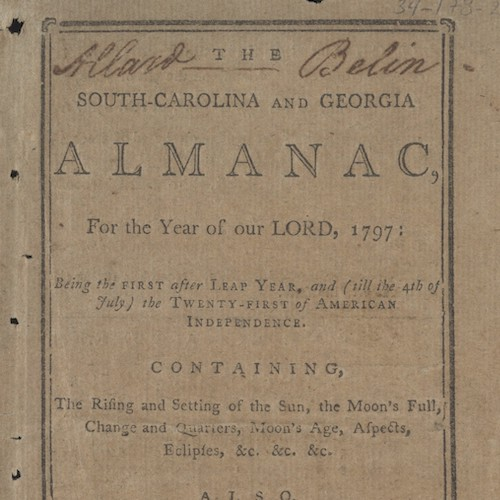 Sandy Island Plantation Journals/Almanacs, 1792-1798