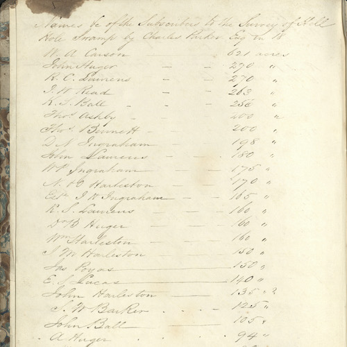 Agricultural Experiments and South Mulberry Plantation Journal, 1841-1907 (bulk 1841-1867)